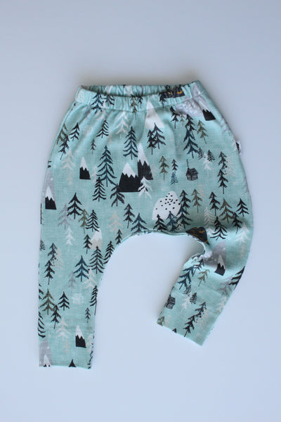 Organic Harem Leggings - Tree Tops