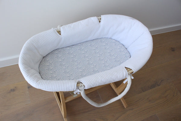 Ocean Herringbone - Bassinet Sheet