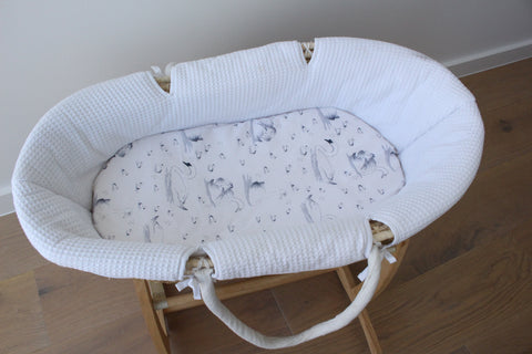 Sweet Swans - Bassinet Sheet