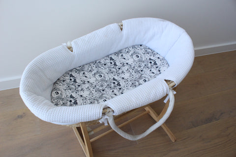 Menagerie (Navy) - Bassinet Sheet