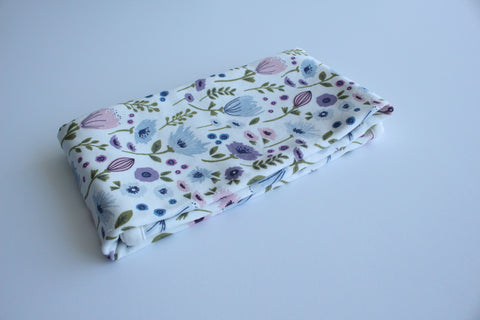 Organic Baby Swaddle Blanket - Botanical