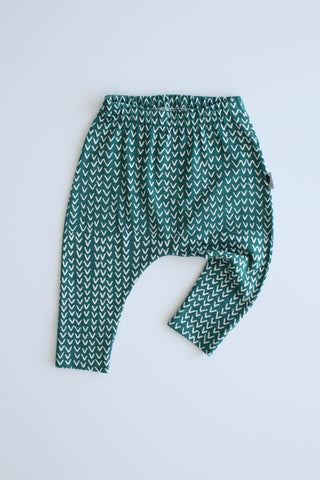 100% Cotton Harem Leggings - Tribe (Green)