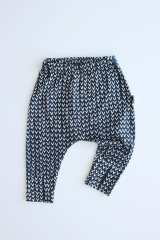 100% Cotton Harem Leggings - Tribe (Navy)