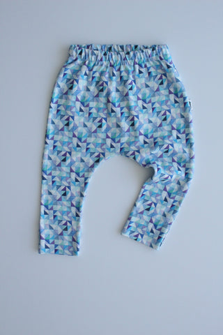 Organic Harem Leggings - Blue Hues