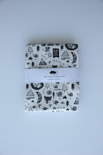 Fitted Cot Sheet - Forest Dreaming