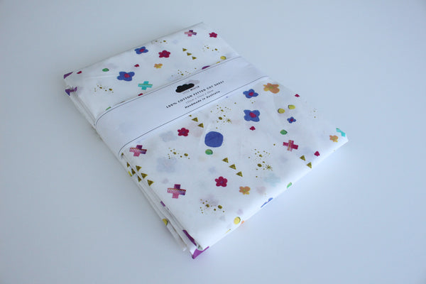 Fitted Cot Sheet - Scatter