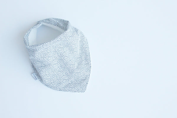 Bandana Bib - Speckle (White)