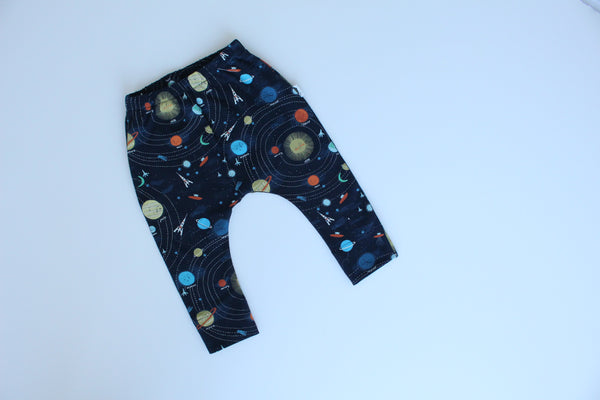 Stretchy Harem Leggings - Space Odyssey