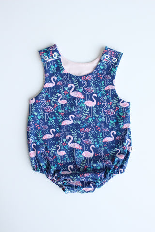 Stretchy Romper - Flamingo Fling