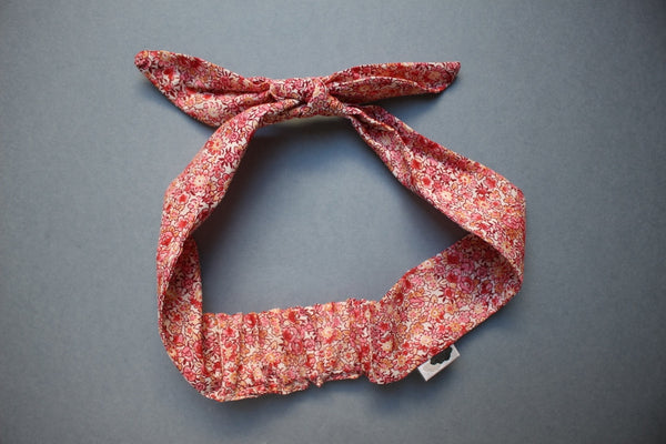 Self-tie Headband - Rose Tinted Daisy - Little Dreamer Australia
