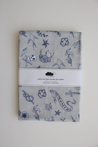 Fitted Cot Sheet - Ahoy