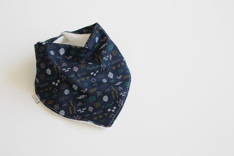 Bandana Bib - Navy Abstract
