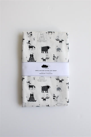 Fitted Cot Sheet - Woodland Critters