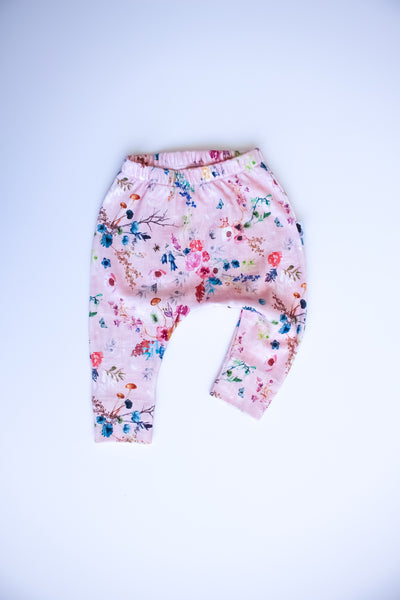 Organic Harem Leggings - Meadow (Pink)