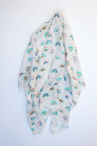 Mystic Rainbows Muslin Wrap