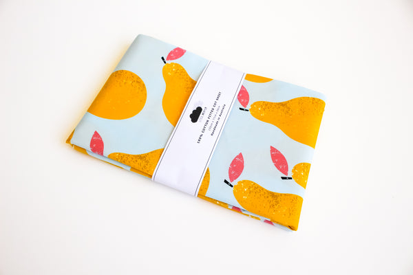 Fitted Cot Sheet - Pear