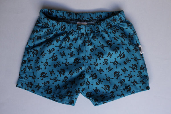 Shorties - Jolly Rodger (Teal) - Little Dreamer Australia