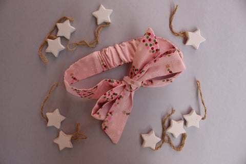 Christmas Headband - Pink Christmas Trees