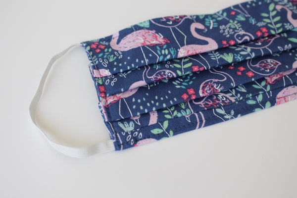 Child Face Mask - Blue Flamingos