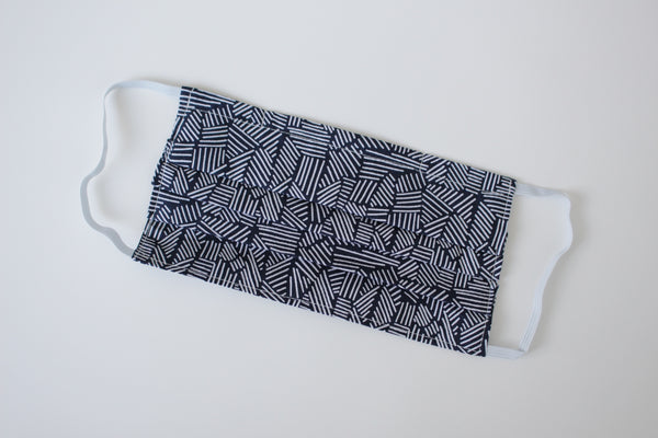 Adult Face Mask - Navy Abstract (Organic)
