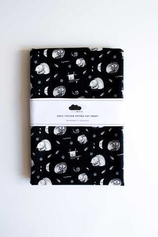 Fitted Cot Sheet - Monochrome Slumber