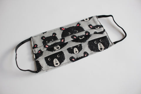 Child Face Mask - Grey Bears