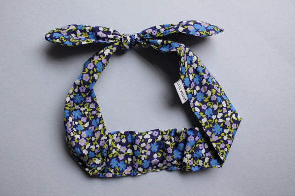 Self-tie Headband - Indigo Fields - Little Dreamer Australia