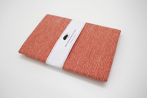 Fitted Cot Sheet - Lunar (Rust)