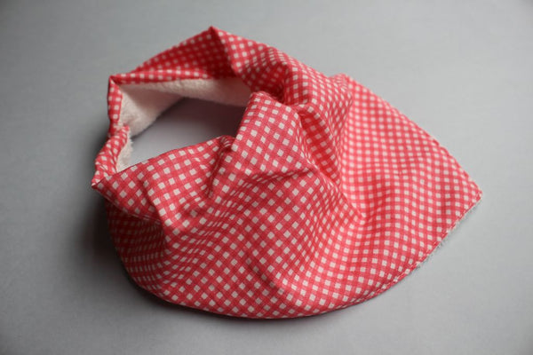Bandana Bib - Coral Check - Little Dreamer Australia