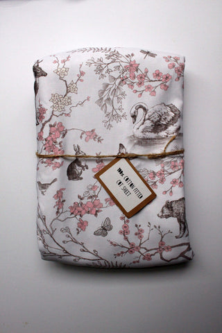Fitted Cot Sheet - Forest of the Swans