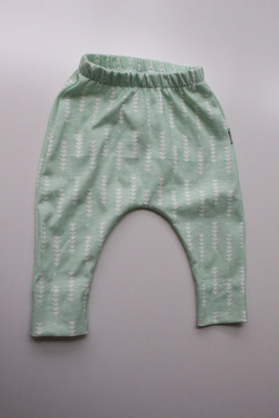 100% Cotton Harem Leggings - Minty Fresh
