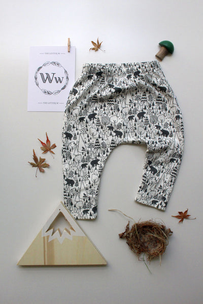 100% Cotton Harem Leggings - Into the Woods