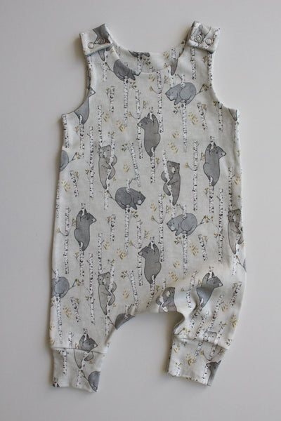 Mini Birch Bears - Organic Harem Romper