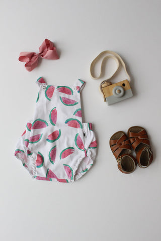 Summer Romper - Watermelon (White)