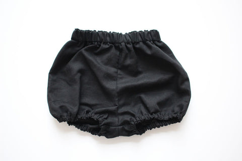 Luxe Bloomers - Black Linen