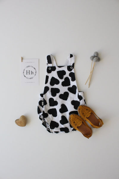 Summer Romper - Dark Hearts