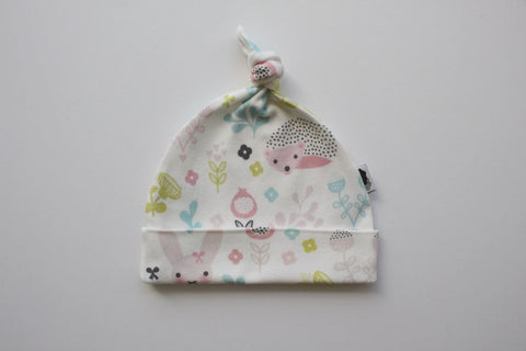 Organic Topknot Baby Beanie - Under the Hedge