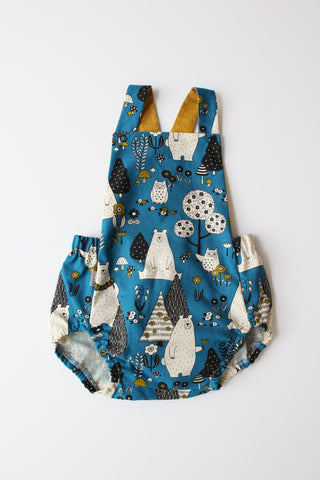 Summer Romper - Bear Necessities (Blue)