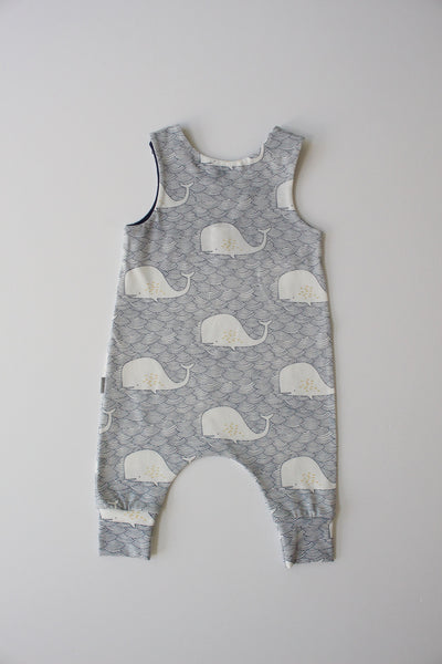 Whale Tales - Harem Romper