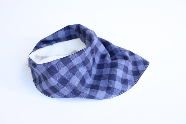 Bandana Bib - Gingham (Blue by 2)