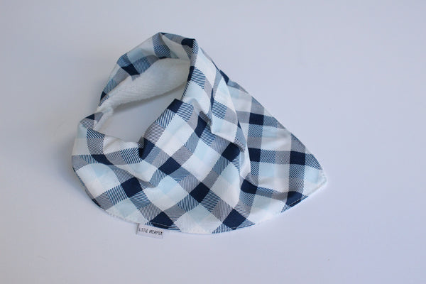 Bandana Bib - Summer Skies (Plaid)