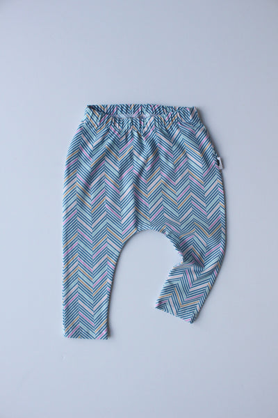 Stretchy Harem Leggings - Candy Herringbone