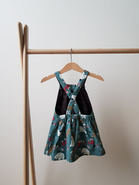 Pinafore Dress - Winter Woods