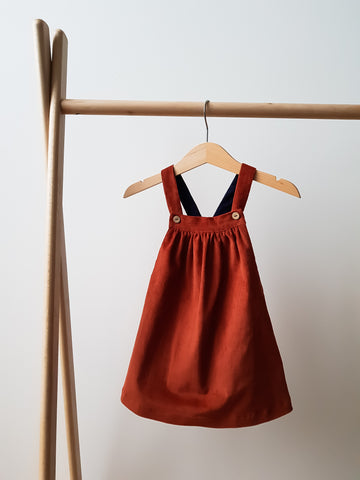 Pinafore Dress - Rust