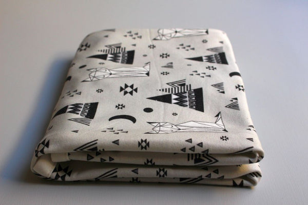 Organic Baby Swaddle Blanket - Little Dreaming Fox - Little Dreamer Australia