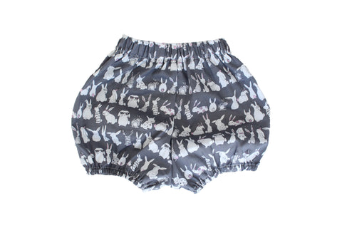 Bloomers - Hop Little Bunny (Charcoal)