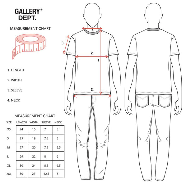 Gallery Dept. Sizing Guide