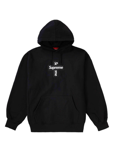 Supreme Cross Box Logo Hooded Sweatshirt Black [FW20] - PRIOR
