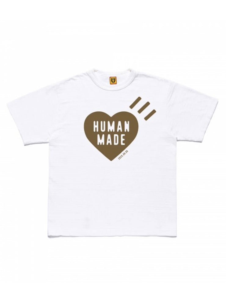 Human Made Heart LOGO TEE WHITE/CHARCOAL