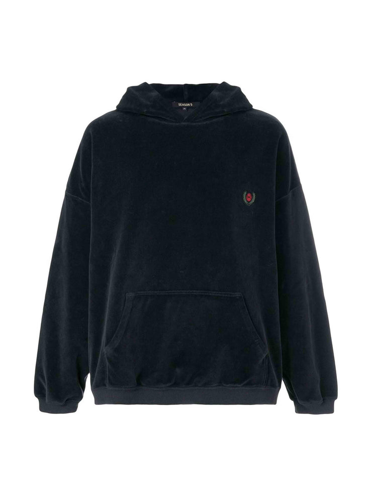 Yeezy Season 5 Velour Hoodie Black - PRIOR